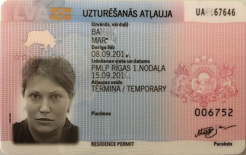 Belgium residence permit card