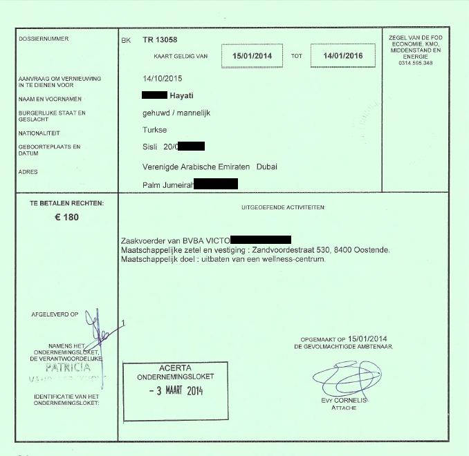 Residence Permit Belgium